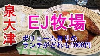 泉大津 EJ牧場でボリュームランチ食べました! thumbnail