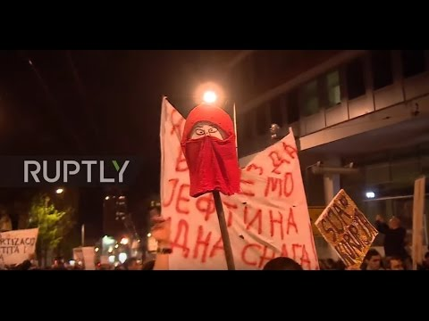 Serbia: Thousands of anti-government protesters flood Belgrade