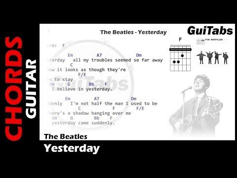 The Beatles - Yesterday ( Lyrics & Guitar Chords ) 🎸