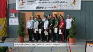Baixar Ringtennis WM Channel - Introduction - Prenomination of the german Team - Actionscenes