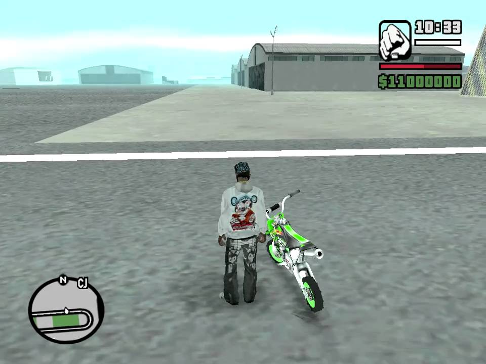 Grand Theft Auto San Andreas Pit Bike - YouTube