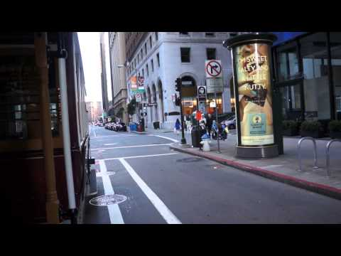 A Ride On The California Line Cablecar in San Francisco
