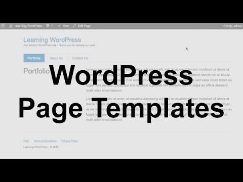 WordPress Page Templates (Theme Development)