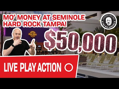 🔴 Dropping $50,000 LIVE 🏖 Mo' Money At Seminole Hard Rock