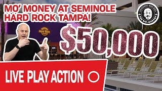 🔴 Dropping $50,000 LIVE 🏖 Mo' Money at Seminole Hard Rock