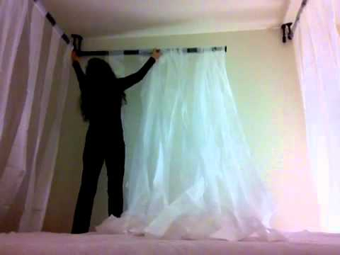 Building a canopy for my bed 2 of 3 youtube for How to create a canopy