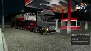 Euro Truck Simulator 2 Mercedes Benz Actros With Indonesian Train Locomotive Trailer