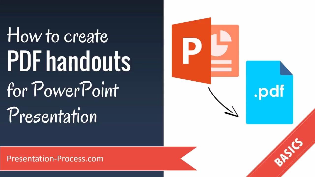 how to write a handout for a presentation