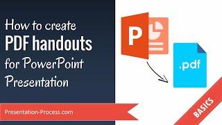 Comment créer des PDF documents en vue d'une Présentation PowerPoint