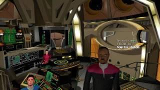 Star Trek Deep Space Nine Harbinger Before alien ship attack part1(ensign