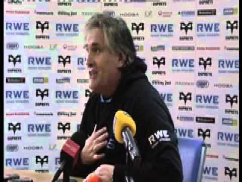 Scott Johnson pre-Scarlets press conference 21st December 2011
