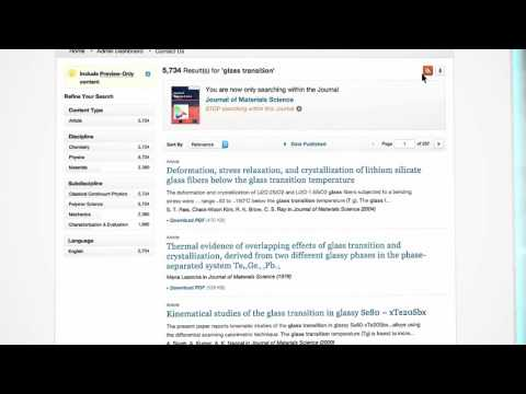 Journals - SpringerLink Tutorial - Spanish (Latin America)