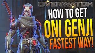 Overwatch How to Get BEST GENJI SKIN EVER! ONI GENJI SKIN