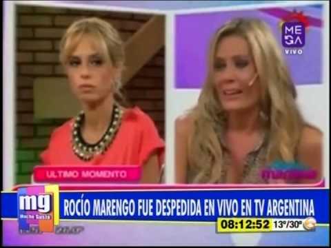 Rocío Marengo fue despedida en vivo en TV argentina