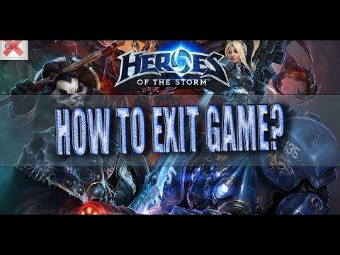 видео: Как выйти с heroes of the storm ? hots
