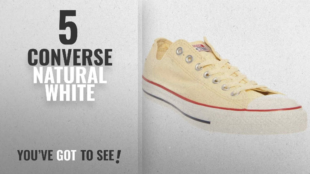 03d859ee373a Top 5 Converse Natural White  2018   Converse Unisex Chuck Taylor ...