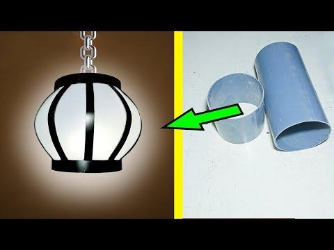 Lampu hias dari pipa paralon (Lampion penghasil uang)