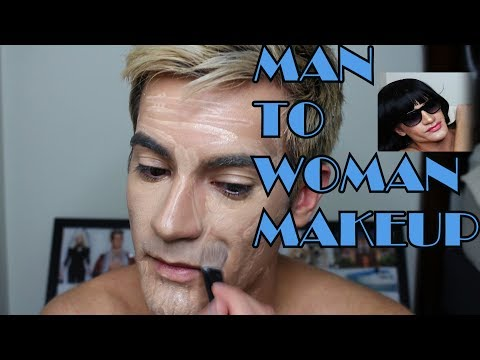 Man to Woman Transformation Makeup Application: Trying out Drag! (ASMR)