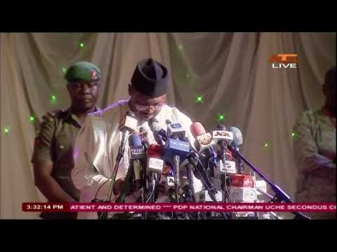 INEC Chairman Meets Stakeholders on Election Postponement, Gives Reasons