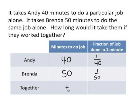 """""""Working Together"""" Problems"""
