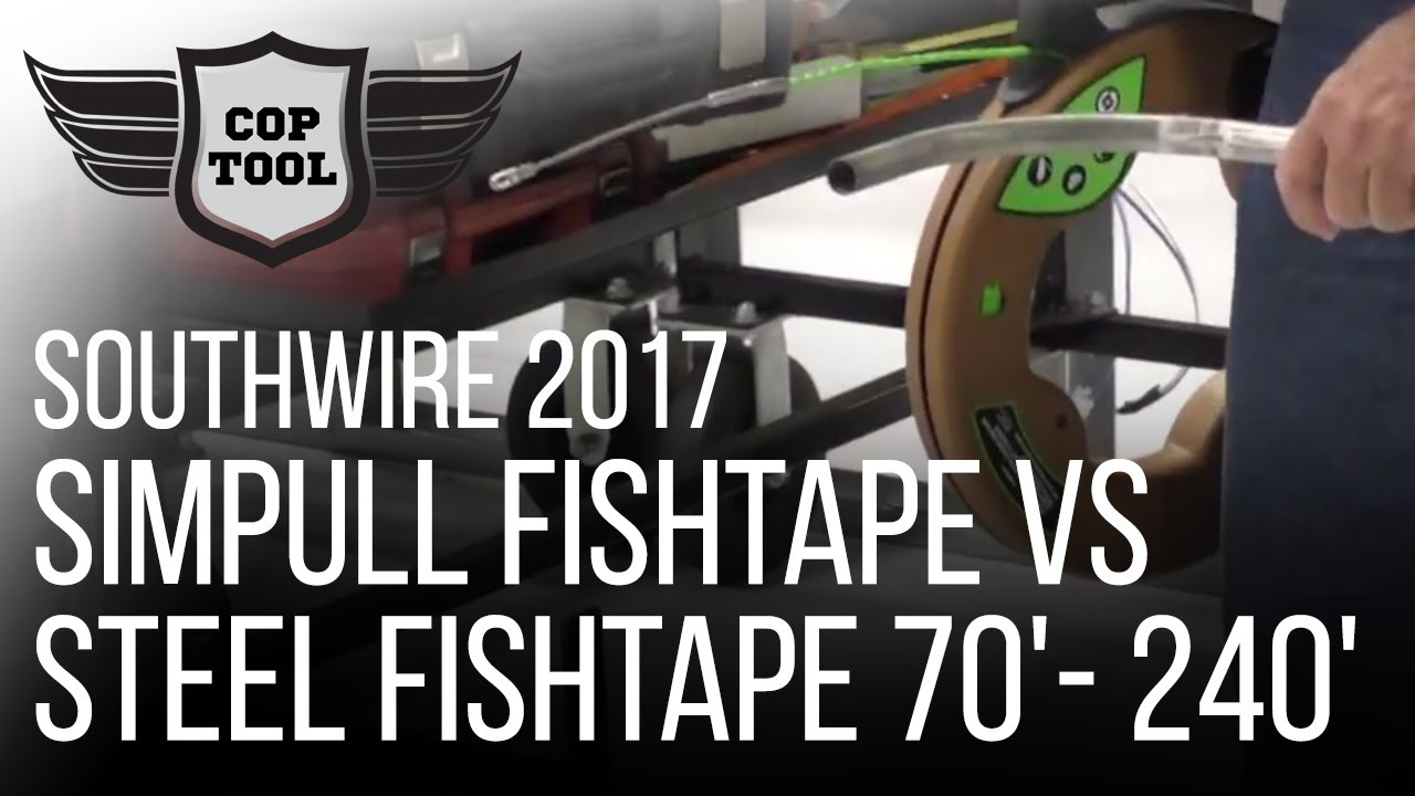 Southwire SIMpull Fishtape vs Steel Fishtape 70\'- 240\' - YouTube