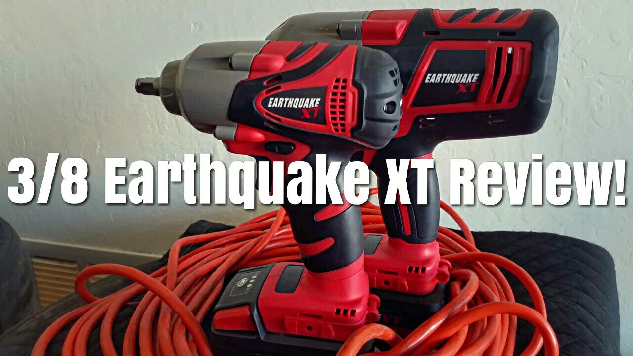 Earthquake XT 3/8 20v Cordless Impact Wrench New From Harbor Freight Review  & Testing Item #63536