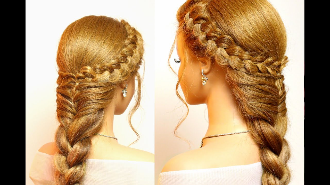 Easy Styles For Long Hair: Easy Hairstyles For Long Hair. Cute Braids Tutorial