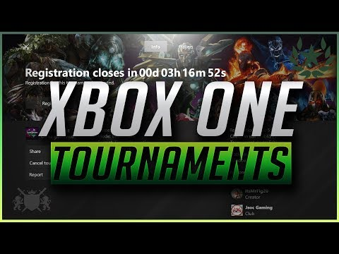 How To Create Tournaments on Xbox One (Update)