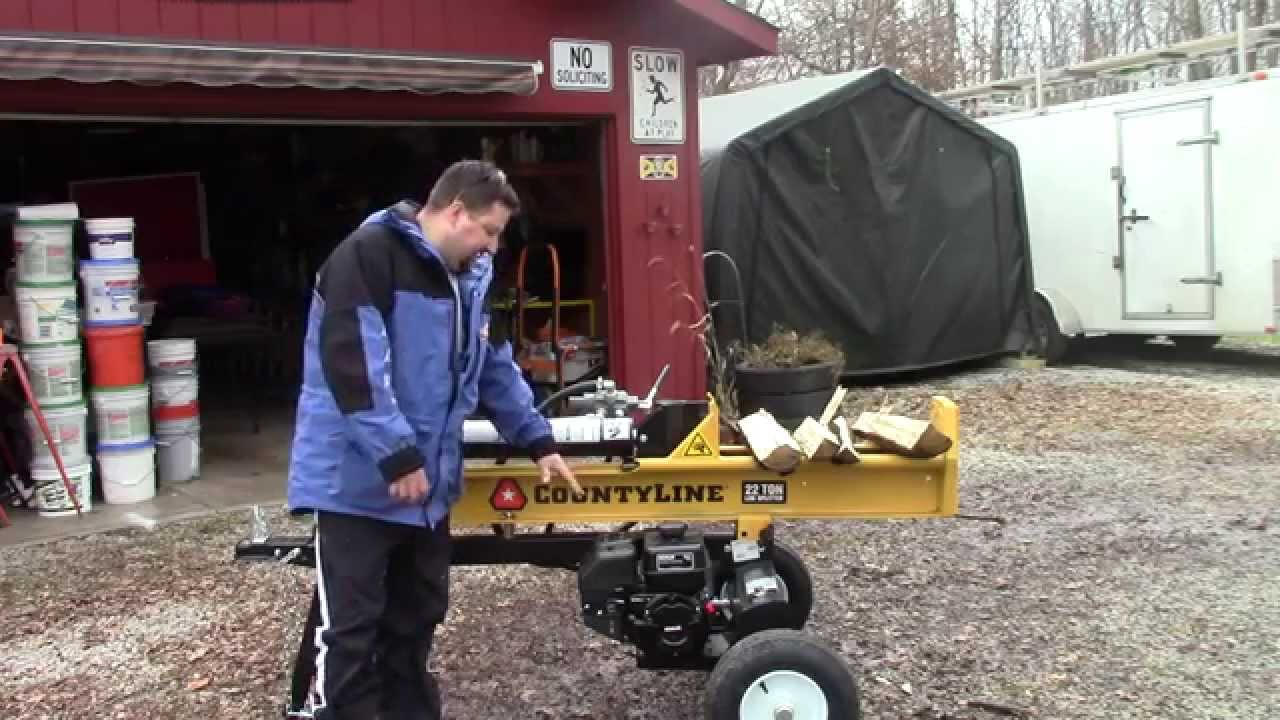 CountyLine 22 Ton Log Splitter Review - YouTube on