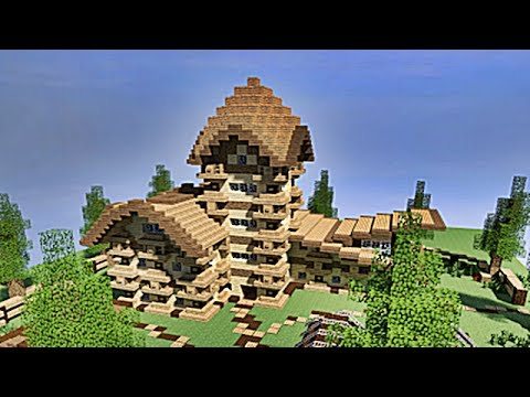 Minecraft tuto maison enti rement en bois 1 4 youtube for Belle maison minecraft