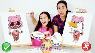 DESAFIO PINTANDO LOL SURPRESA CONFETTI!!! ★ Arte com Mamãe no Carnaval (PAINT EACH OTHER CHALLENGE)