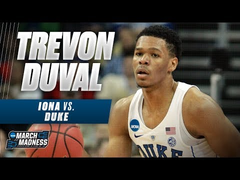 Duke\'s Trevon Duval was on fire in the Blue Devils First Round victory