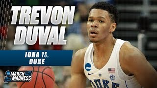 Duke's Trevon Duval was on fire in the Blue Devils First Round victory