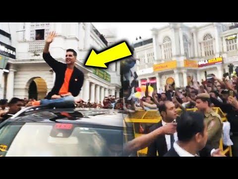Akshay Kumar का Delhi में Kesari Promotion, देखिये इतनी FANS भीड़