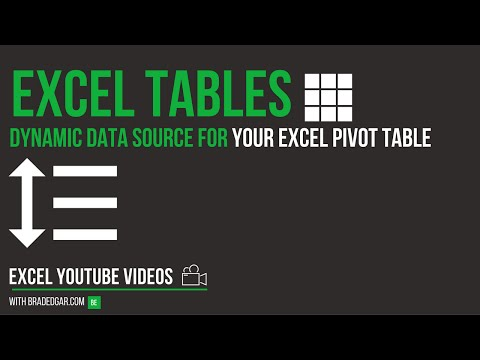 Excel Tables: Dynamic Data Sources For Your Excel Pivot Tables