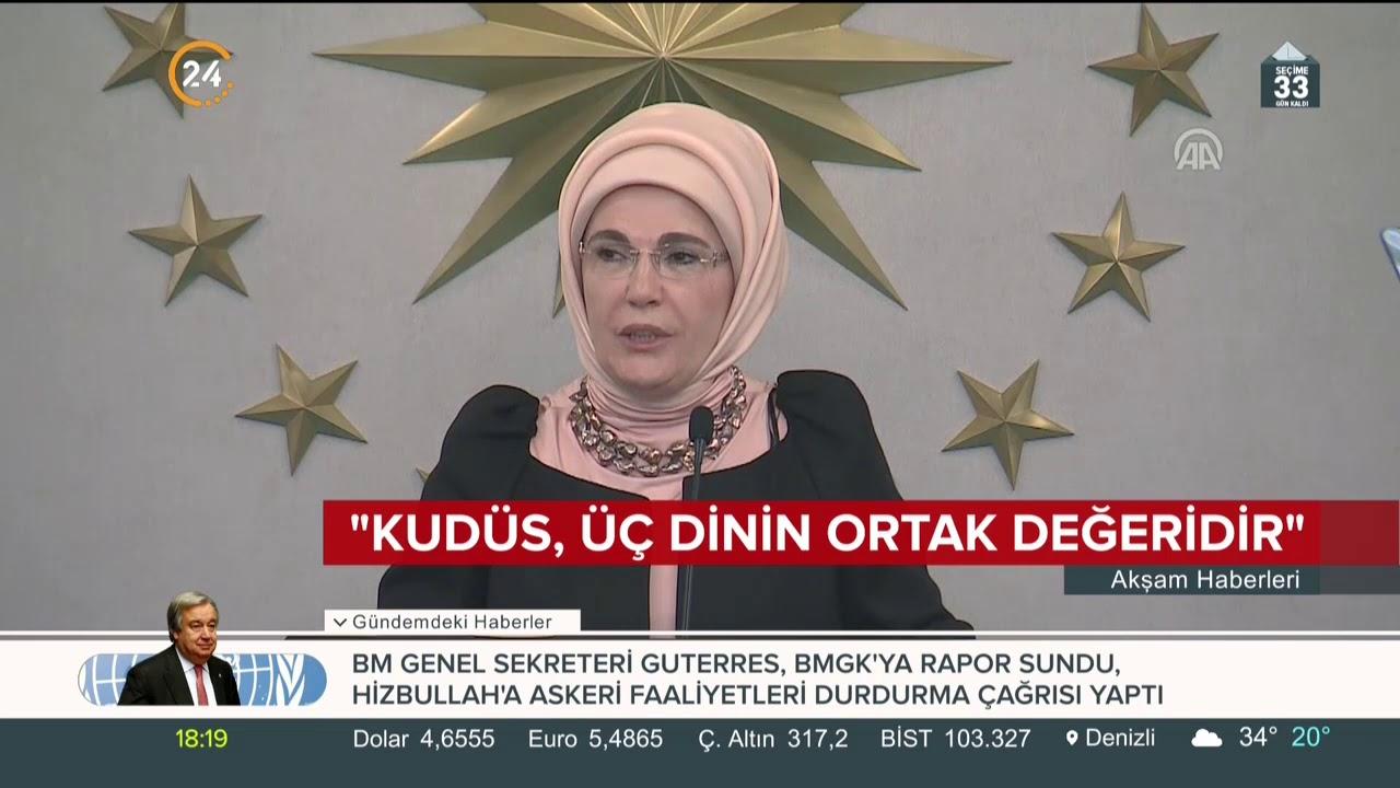 Emine Erdoğan: Kudüs, üç dinin ortak değeridir