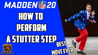 MADDEN 20 HOW TO STUTTER STEP - HOW TO JUKE LIKE A PRO - JUKE BETTER IN MADDEN 20