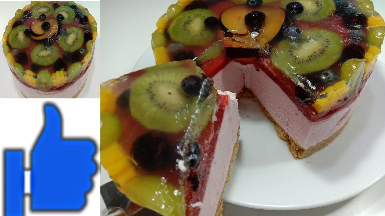 تشيزكيك بالفرولة بدون فرن No Bake Strawberry Cheesecake