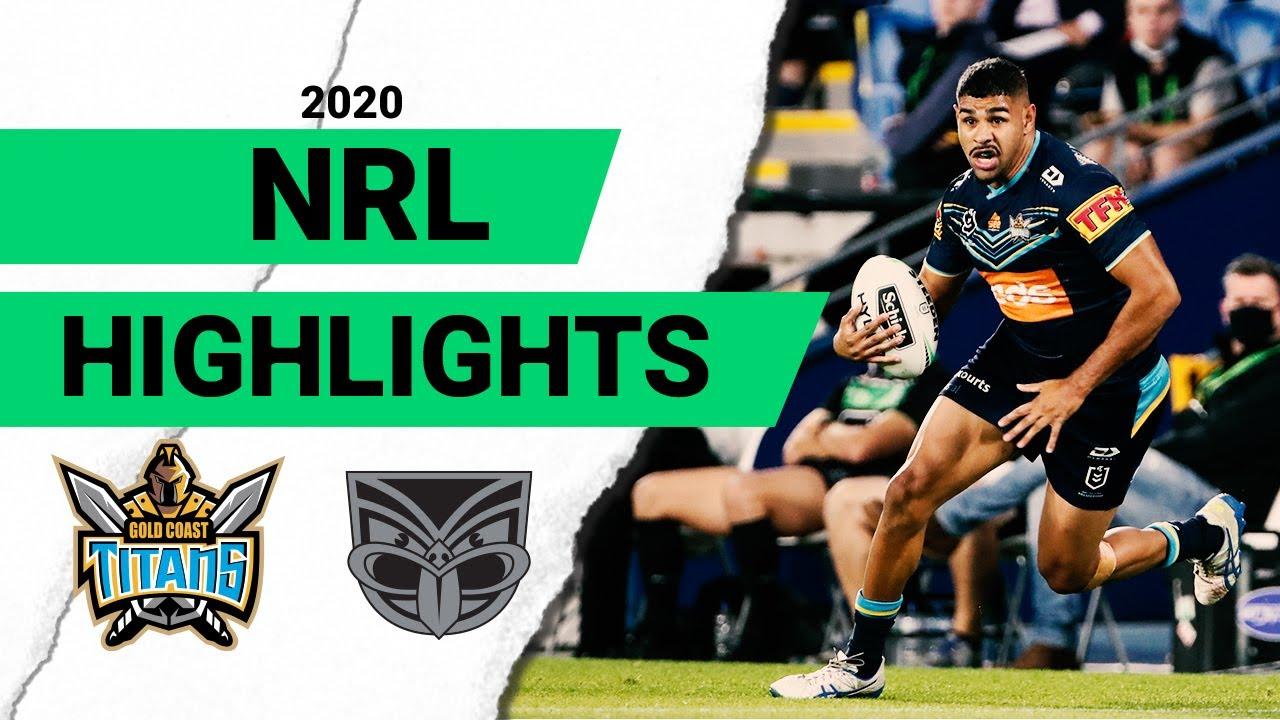 Titans v Warriors | Round 9 2020 | Telstra Premiership | NRL