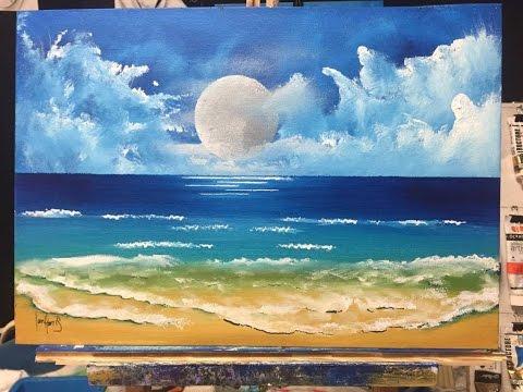 #69. moon beach (acrylic)