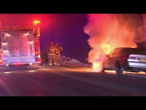 Video: Woman Escapes Injury After Flames Explode From Car In Area