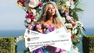 Celebs & The Internet REACT To Beyonce's First Pic Of Twins Rumi & Sir Carter