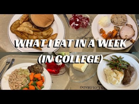 What I Eat In A Week In College - University of Northern Colorado | Mattie Cox