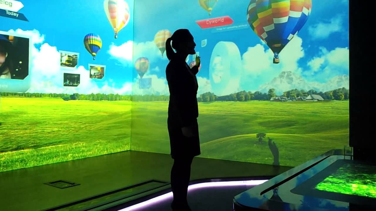 Amazing Future Technology Interactive Full Room Wall To