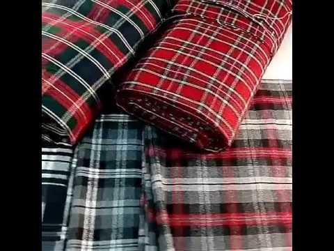 Купить шотландку ткань в клетку в розницу в интернет магазине в украине. Бесплатная доставка при покупке тканей от 1500 гривен. Скидки для опта.