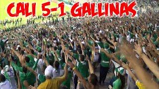Deportivo cali vs Millonarios 5-1   Frente Radical Verdiblanco   Cantos y Goles