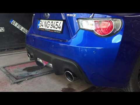 Subaru Brz 2.0i Kumandalı Varex Egzoz Sesi