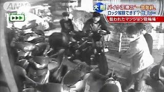 捉えた!犯行の一部始終 高級バイクを「窃盗団」が(14/10/30) thumbnail