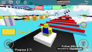 Roblox mega fun obby part 1 whith my brother
