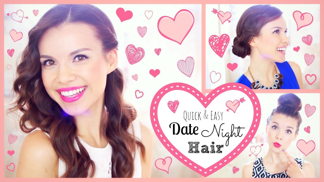 3 Quick & Easy Date Night Hairstyles! - YouTube